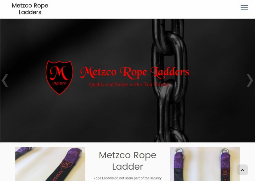 Metzco Rope Ladders Website