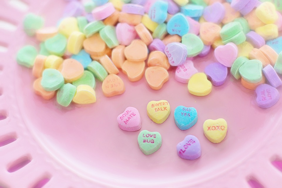 Pastel heart sweets